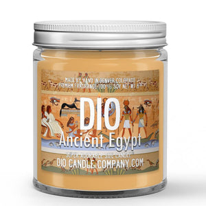 Ancient Egypt Candle - Ancient Amber - 8oz Super Adorable Size Candle® - Dio Candle Company