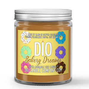 Bakery Dreams Candle - Cookies - Donuts - Pastries - 8oz Super Adorable Size Candle® - Dio Candle Company