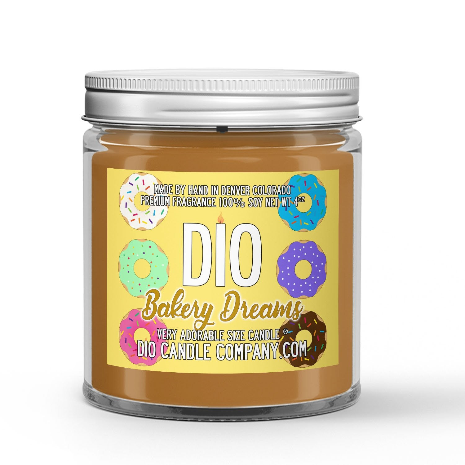 Cookies - Donuts - Pastries Scented - Bakery Dreams Candle - 4 oz - Dio Candle Company