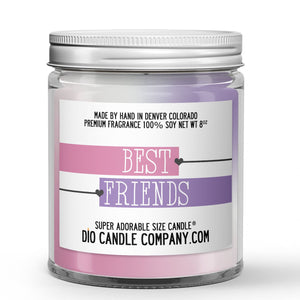 Best Friends Candle - Banana - Peach - Violets - Musk - 8oz Super Adorable Size Candle® - Dio Candle Company