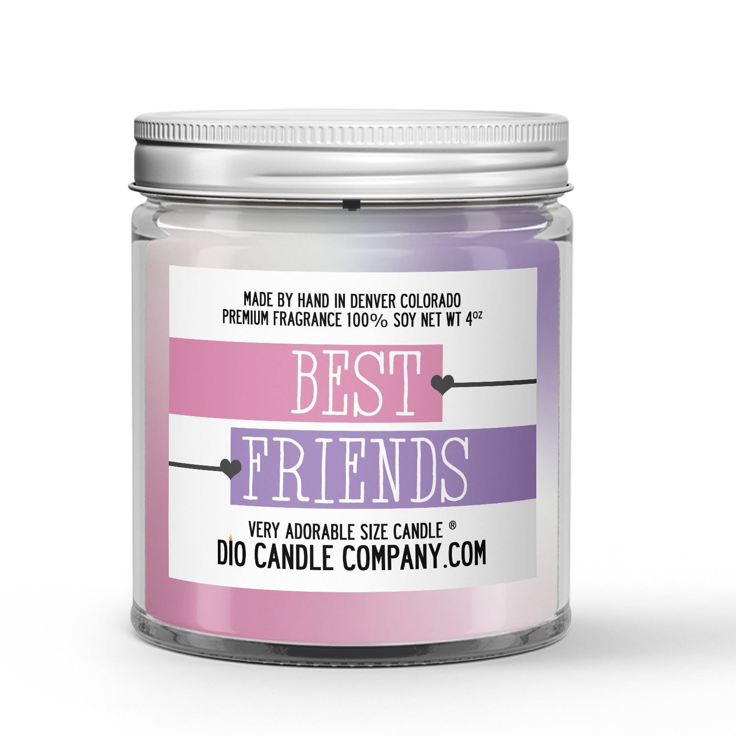 Best Friends Candle Peach - Violets - Musk Scented - Dio Candle Company