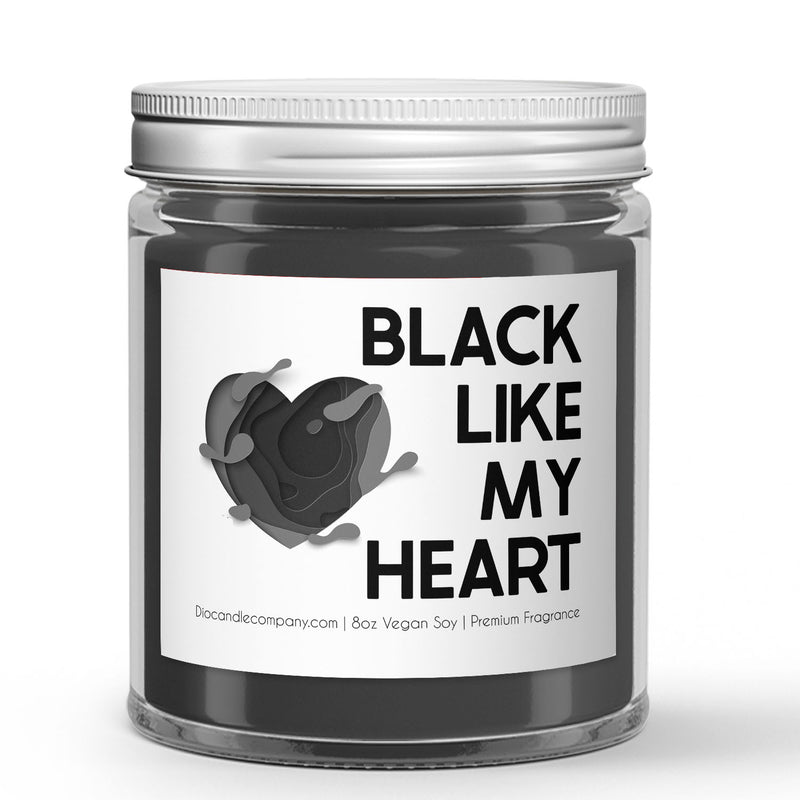Black Heart Candles or Wax Melts