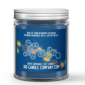 Blustery Day Candle - Dirt - Leaves - Rain - 8oz Super Adorable Size Candle® - Dio Candle Company