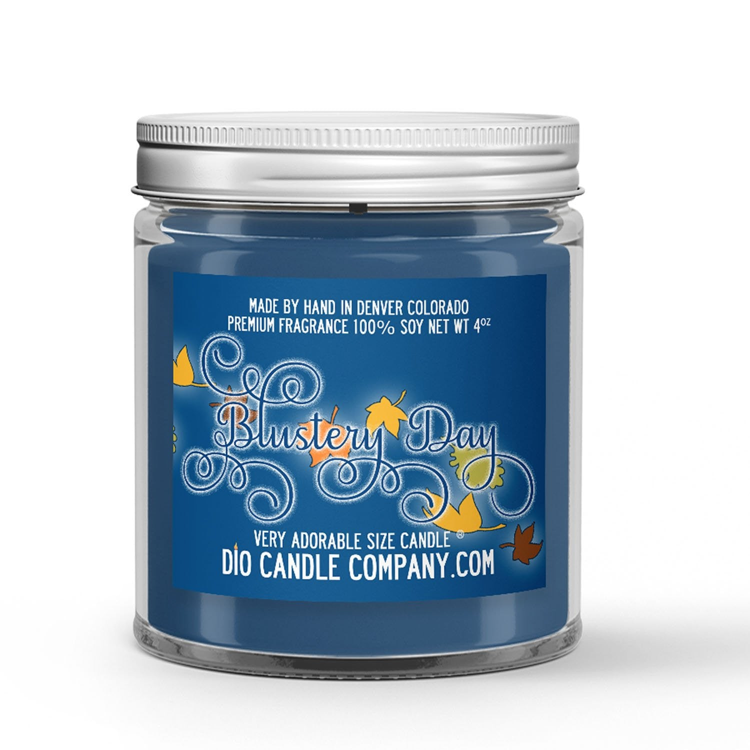Blustery Day Candle - Dirt - Leaves - Rain - 4oz Very Adorable Size Candle® - Dio Candle Company