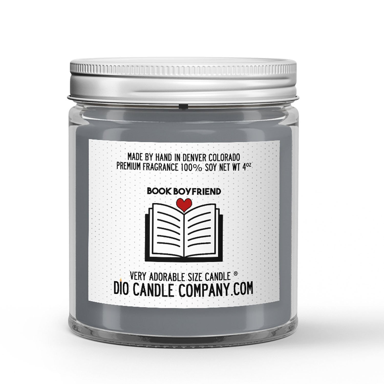 Book Boyfriend Candle - Smoked Caramel - 4oz Very Adorable Size Candle® - Dio Candle Company