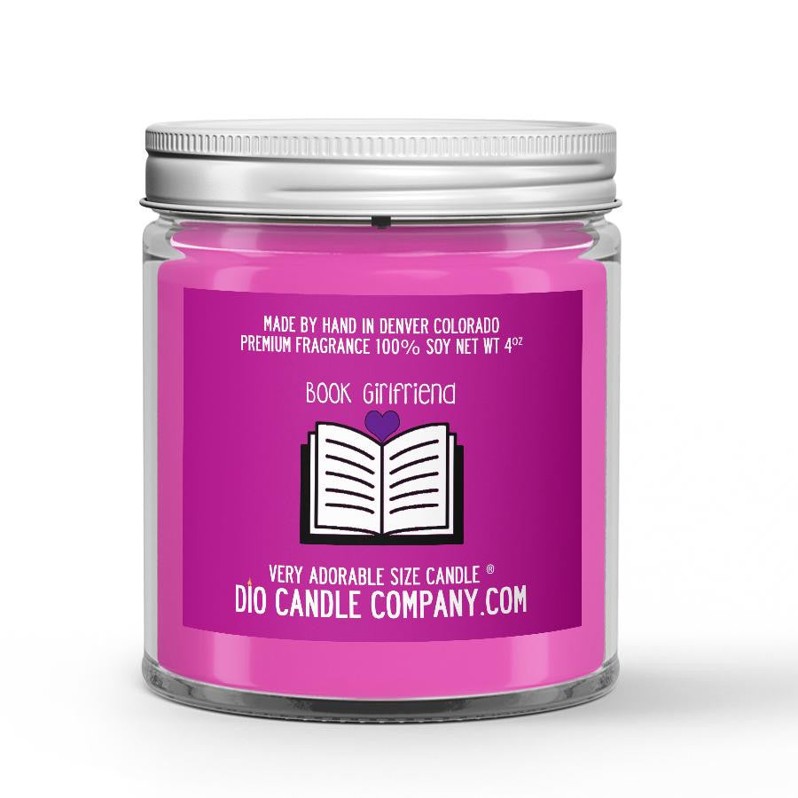 Book Girlfriend Candle - Parchment - Spearmint - Freshly Mown Grass - 4oz Very Adorable Size Candle® - Dio Candle Company