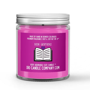 Parchment - Spearmint - Freshly Mown Grass Scented - Book Girlfriend Candle - 4 oz - Dio Candle Company