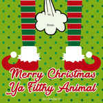 Merry Christmas Ya Filthy Animal Gift Tag  Scented - Dio Candle Company