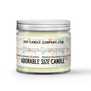 Clean Laundry Mother's Day Candle - Warm Towels - Bedsheets - 1oz Adorable Size Candle® - Dio Candle Company
