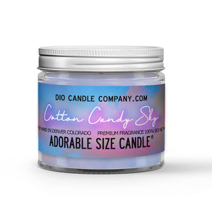 Cotton Candy Sky Candle - Ginger Cotton Candy - 1oz Adorable Size Candle® - Dio Candle Company
