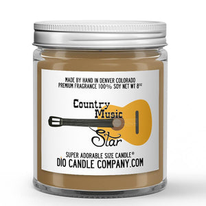 Country Music Star Candle Bergamot - Grass - White Tea Scented - Dio Candle Company