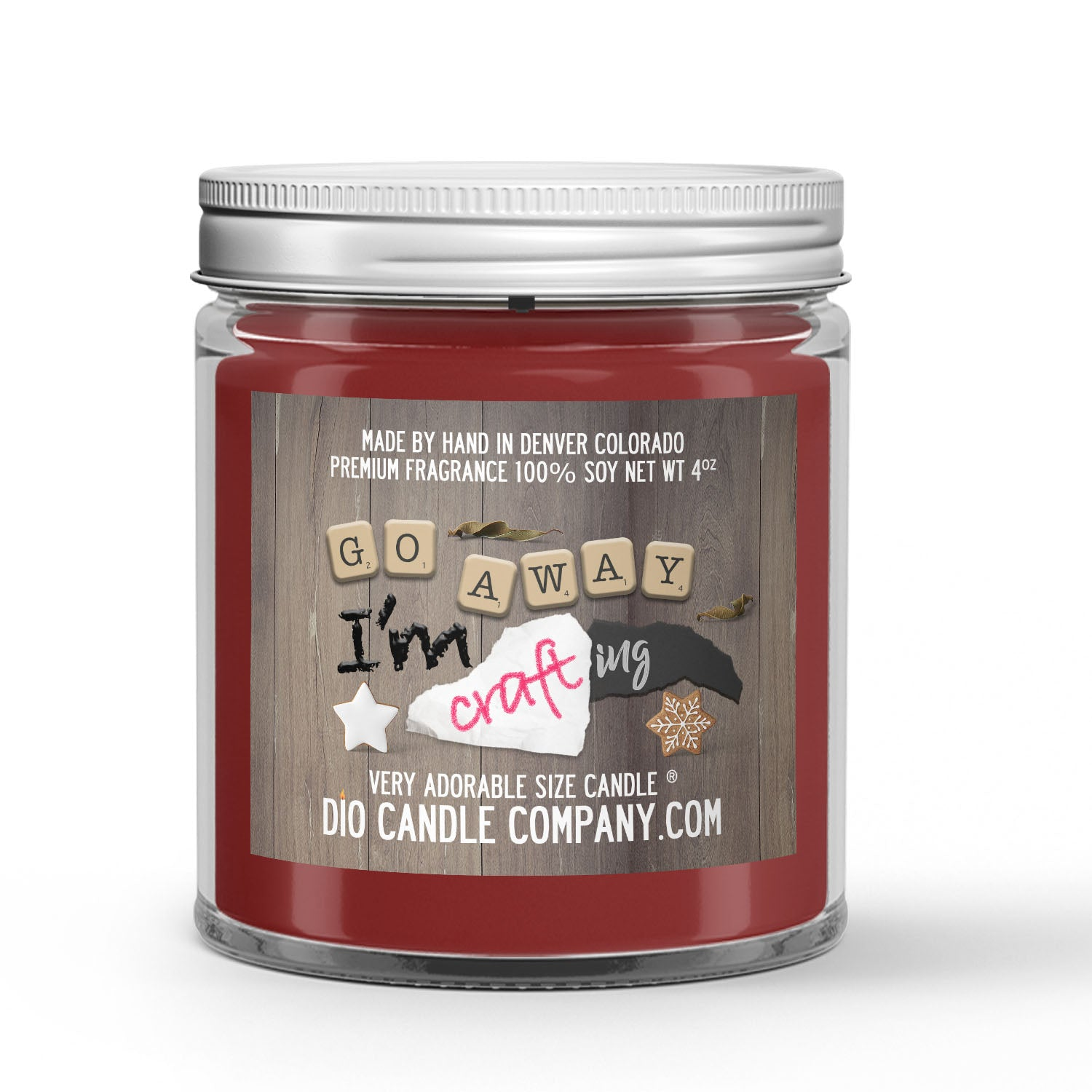 Crafting Candle Wine - Paper - Chocolate Scented - Dio Candle Company