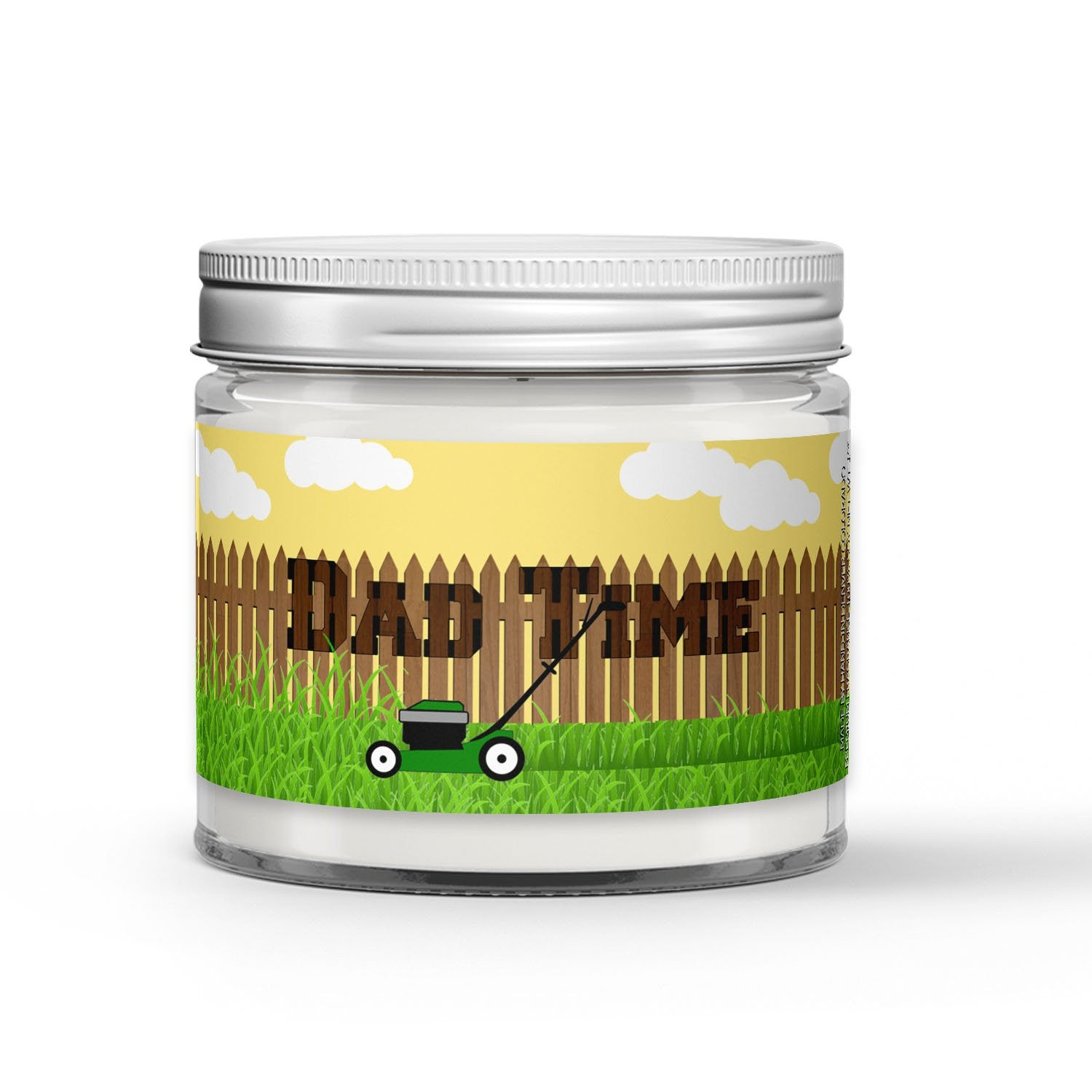 Dad Time Candle - Grass - Sprinkler Water - Earth - 1oz Adorable Size Candle® - Dio Candle Company