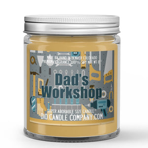 Sawdust - Plywood Scented - Father's Day Dad's Workshop Candle - 8 oz - Dio Candle Company