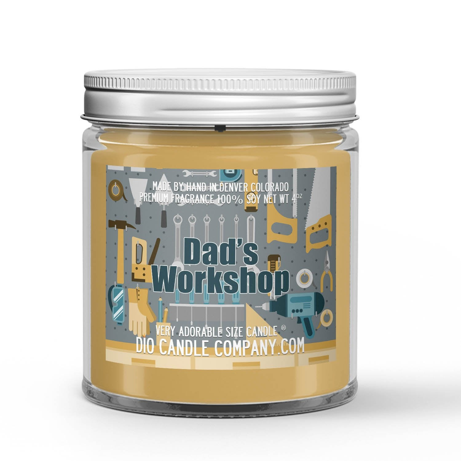 Sawdust - Plywood Scented - Father's Day Dad's Workshop Candle - 4 oz - Dio Candle Company