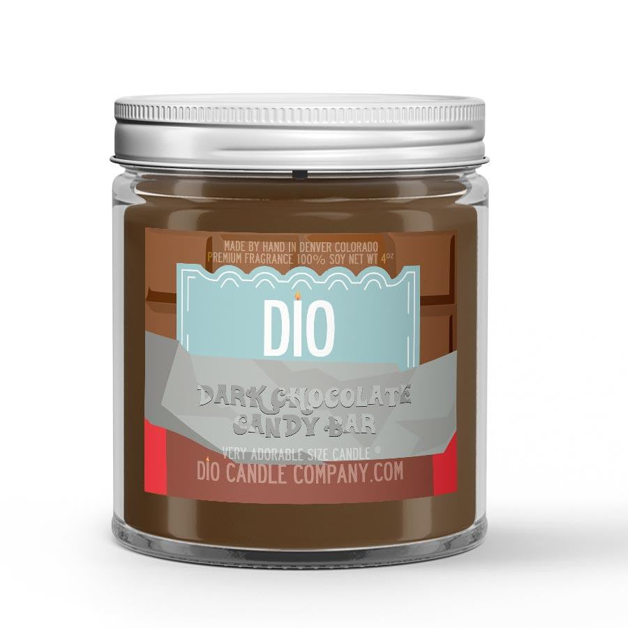 Dark Chocolate - Chili Pepper - Clove Scented - Dark Chocolate Candle - 4 oz - Dio Candle Company