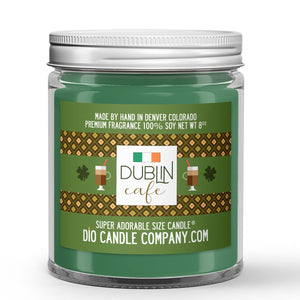 Dublin Candle Coffee - Irish Cream Whiskey Scented - Dio Candle Company