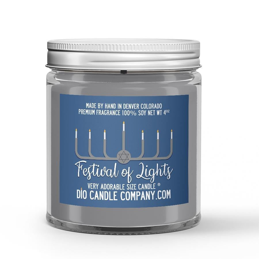 Festival of Lights Candle - Vanilla Bean - 4oz Very Adorable Size Candle® - Dio Candle Company