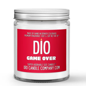 Game Over Gaming Candle Toasted Coconut - Caramel Scented - Dio Candle Company