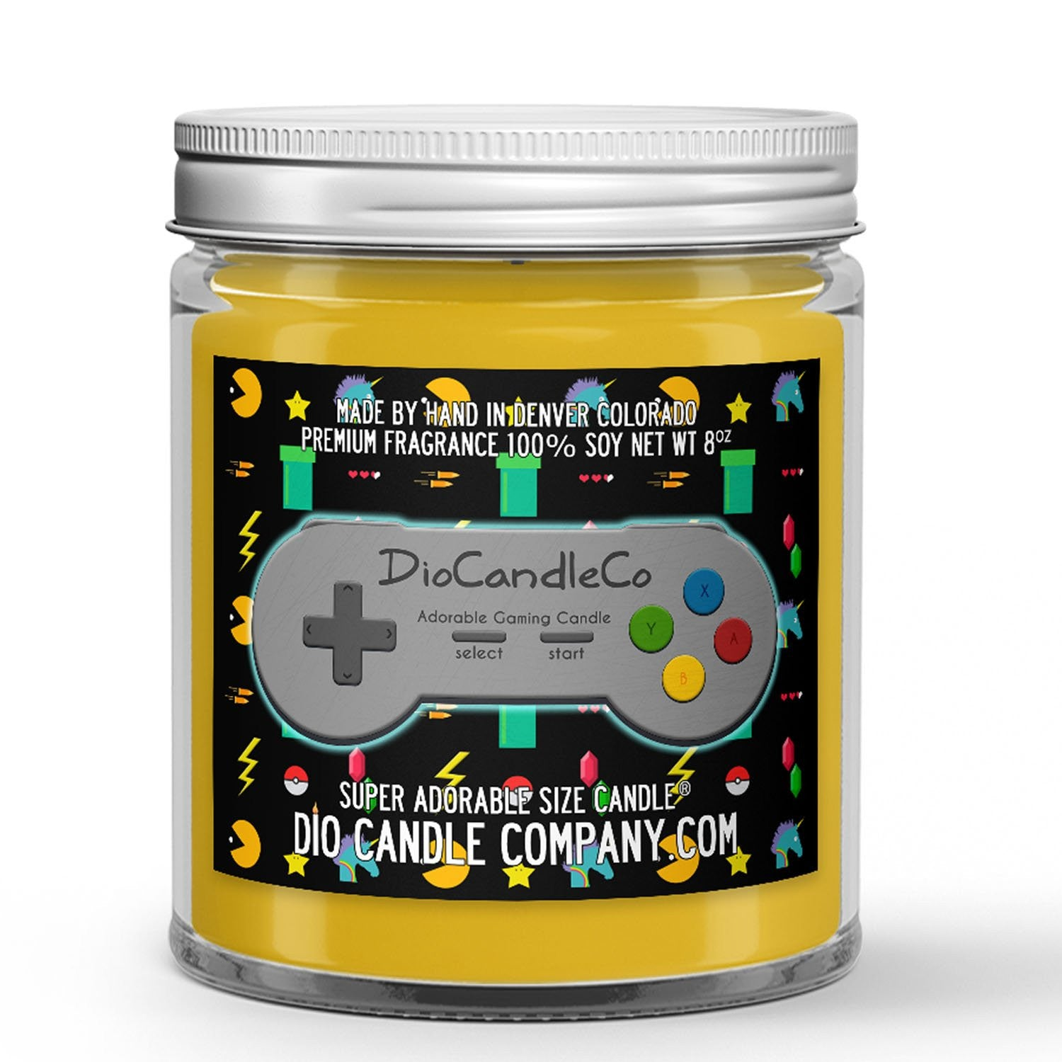 Personalized Gamer Tag Candle - Zesty Ginger-Ale - 8oz Super Adorable Size Candle® - Dio Candle Company