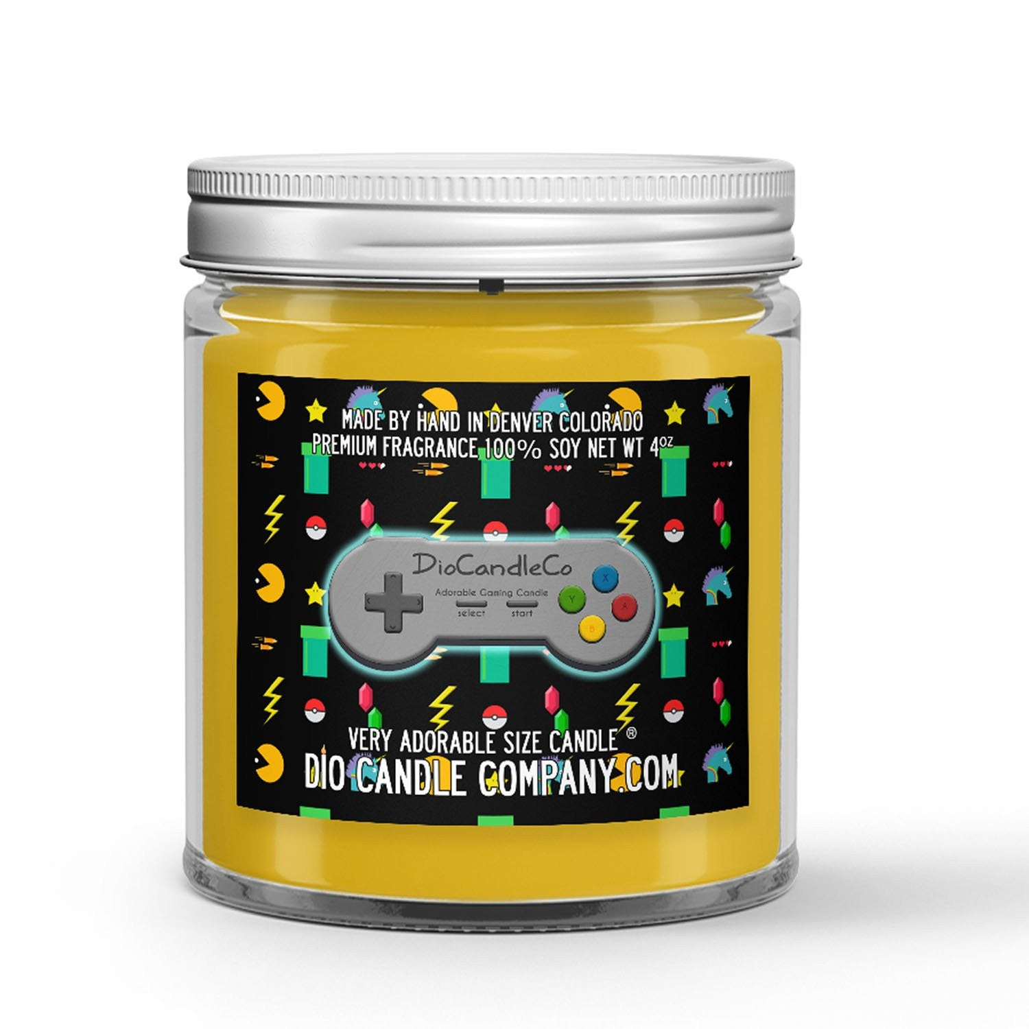 Personalized Gamer Tag Candle - Zesty Ginger-Ale - 4oz Very Adorable Size Candle® - Dio Candle Company