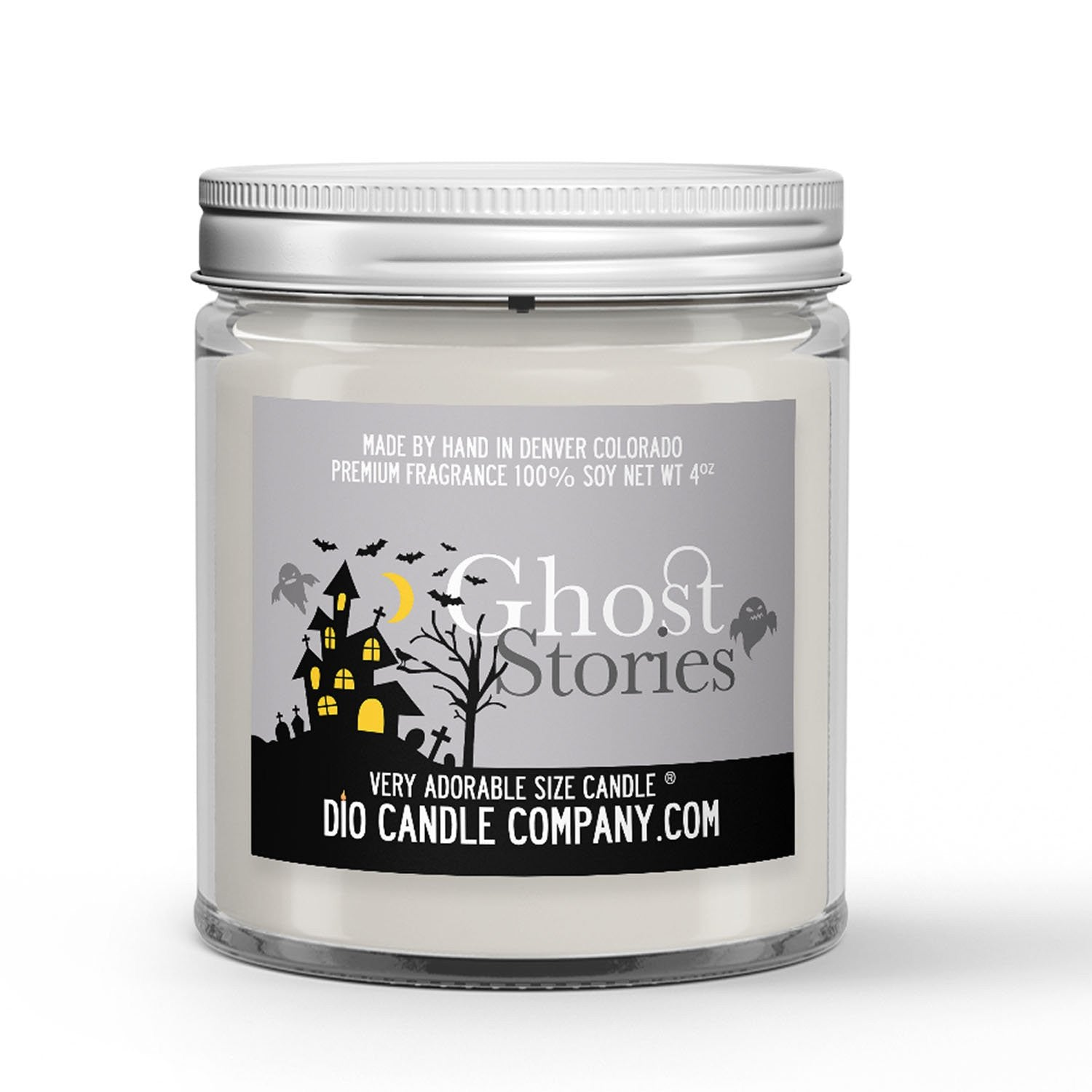 Ghost Stories Candle - Cedar Roasted Marshmallow - Fog - 4oz Very Adorable Size Candle® - Dio Candle Company