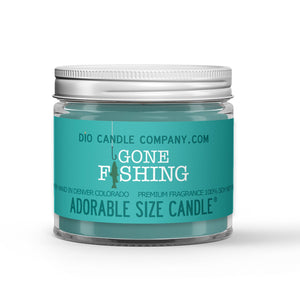 Fishing Candle Lake Water - Mountain Air - Trees Scented - Dio Candle Company