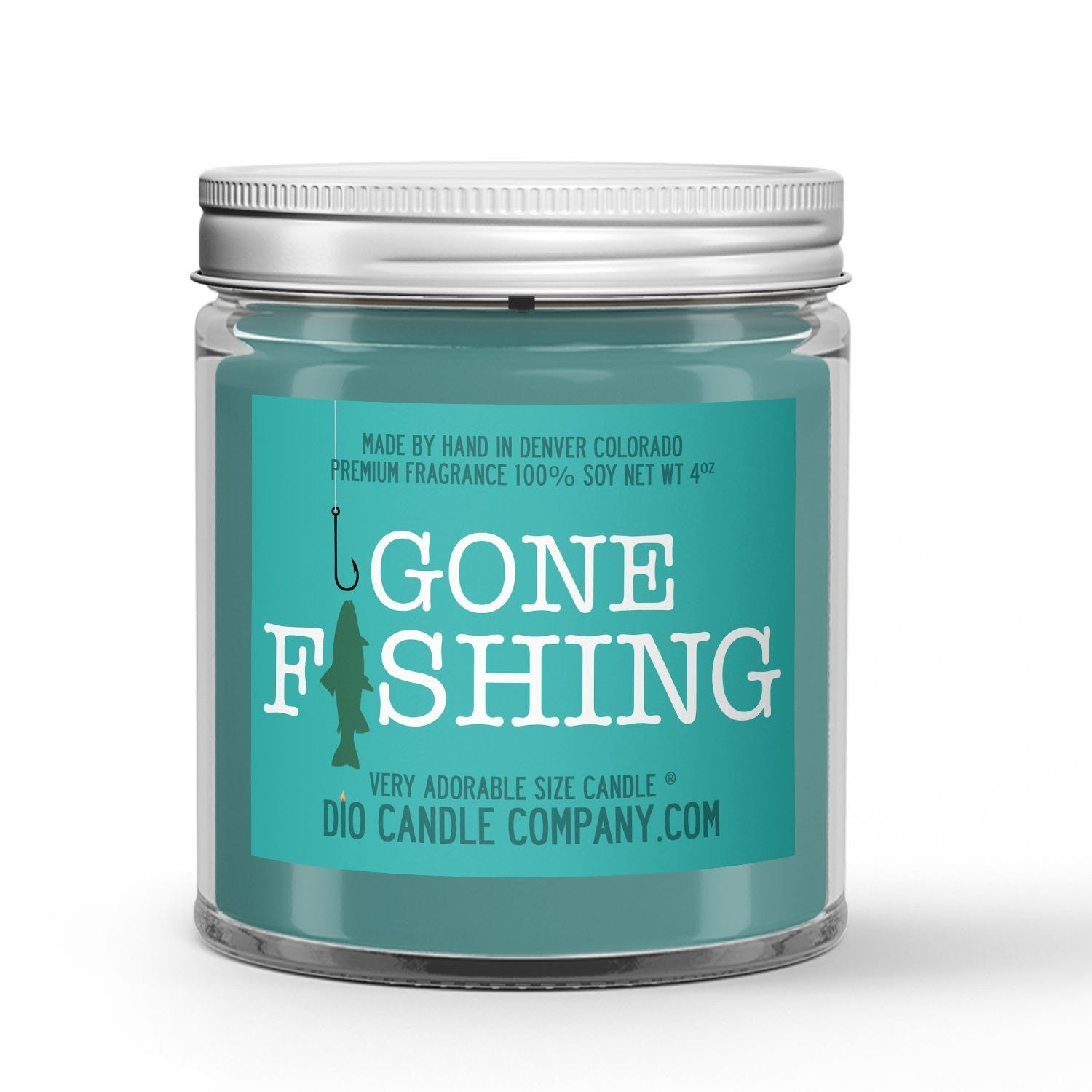 Fishing Candle - Lake Water - Mountain Air - Forest Trees - 4oz Very Adorable Size Candle® - Dio Candle Company