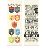 Double Sided Westeros Maple Wood Bookmark Double Sided Printed Adorable Bookmarks Scented - Dio Candle Company
