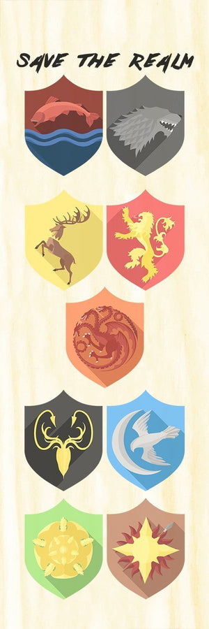 Double Sided Westeros Maple Wood Bookmark - Double Sided Printed Adorable Bookmarks - [variant_title] - Dio Candle Company