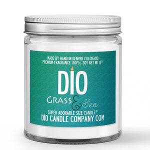 Grass and Sea Candle - Safari Grass - Endless Ocean - 8oz Super Adorable Size Candle® - Dio Candle Company