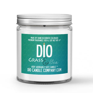 Grass and Sea Candle - Safari Grass - Endless Ocean - 4oz Very Adorable Size Candle® - Dio Candle Company