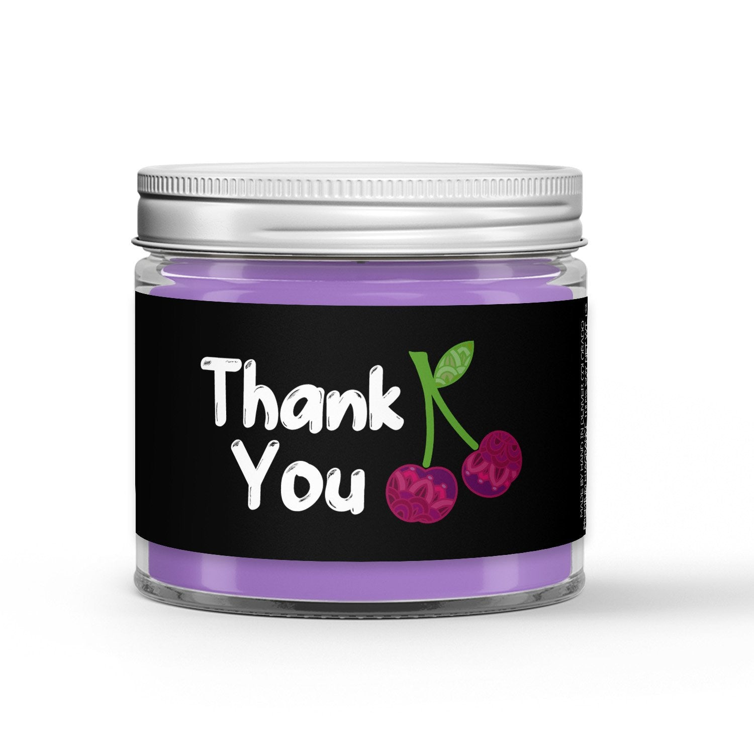 Gratitude Candle - Black Cherry - 1oz Adorable Size Candle® - Dio Candle Company