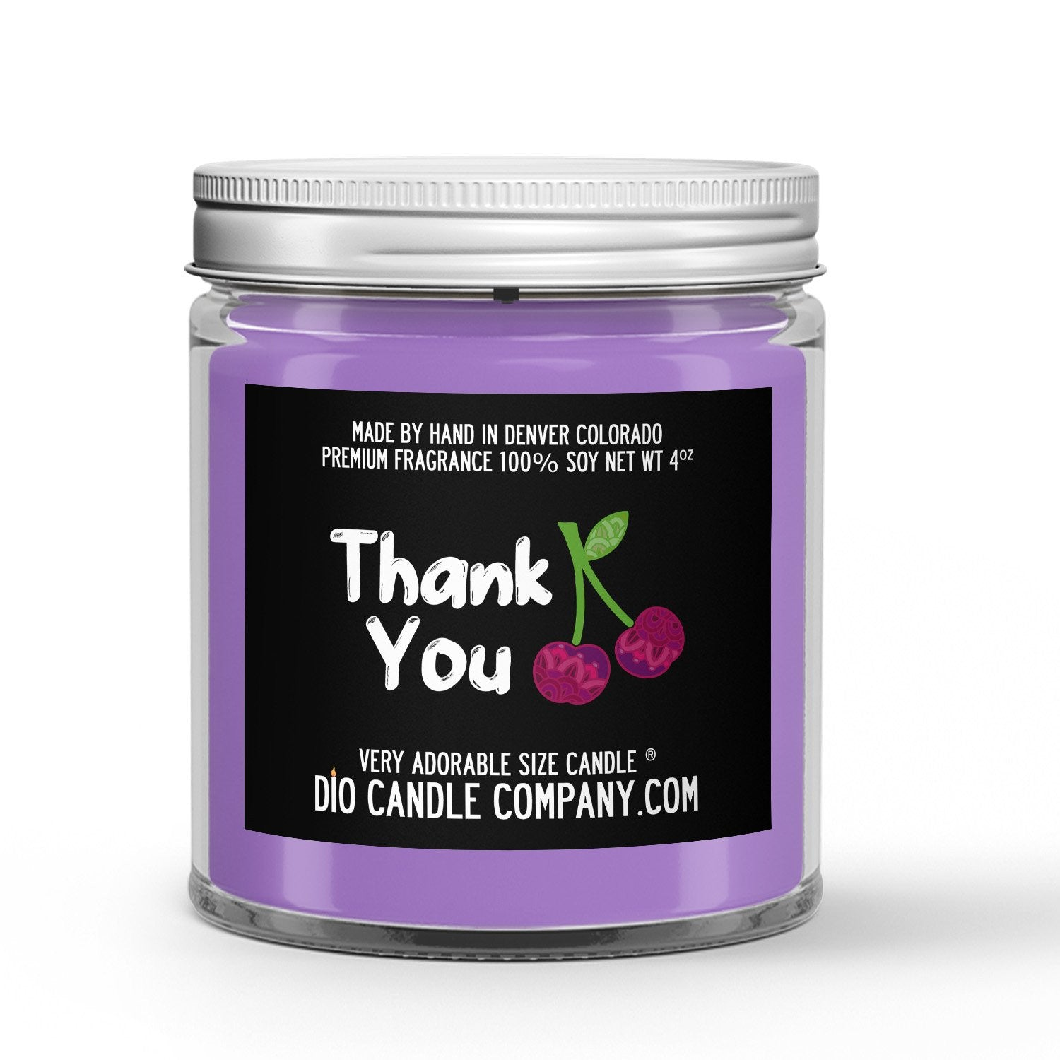 Gratitude Candle - Black Cherry - 4oz Very Adorable Size Candle® - Dio Candle Company