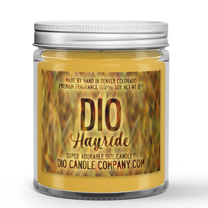 Hayride Candle Hay - Ferns - Bergamot Scented - Dio Candle Company