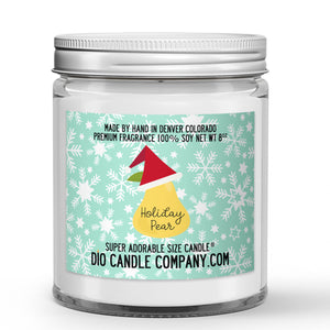 Holiday Pear Candles and Wax Melts