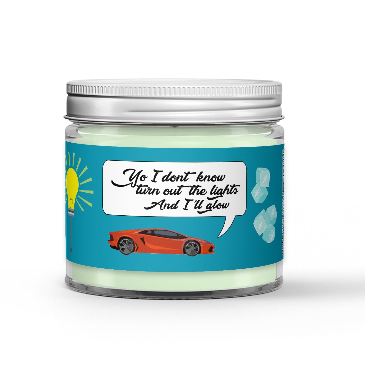 Turn Out The Lights Glow Candle - Vanilla - Mint - Ginger Beer - 1oz Adorable Size Candle® - Dio Candle Company