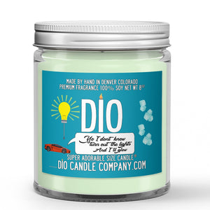 Turn Out The Lights Glow Candle - Vanilla - Mint - Ginger Beer - 8oz Super Adorable Size Candle® - Dio Candle Company