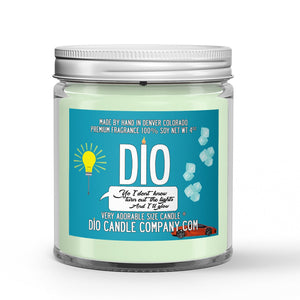 Turn Out The Lights Glow Candle - Vanilla - Mint - Ginger Beer - 4oz Very Adorable Size Candle® - Dio Candle Company