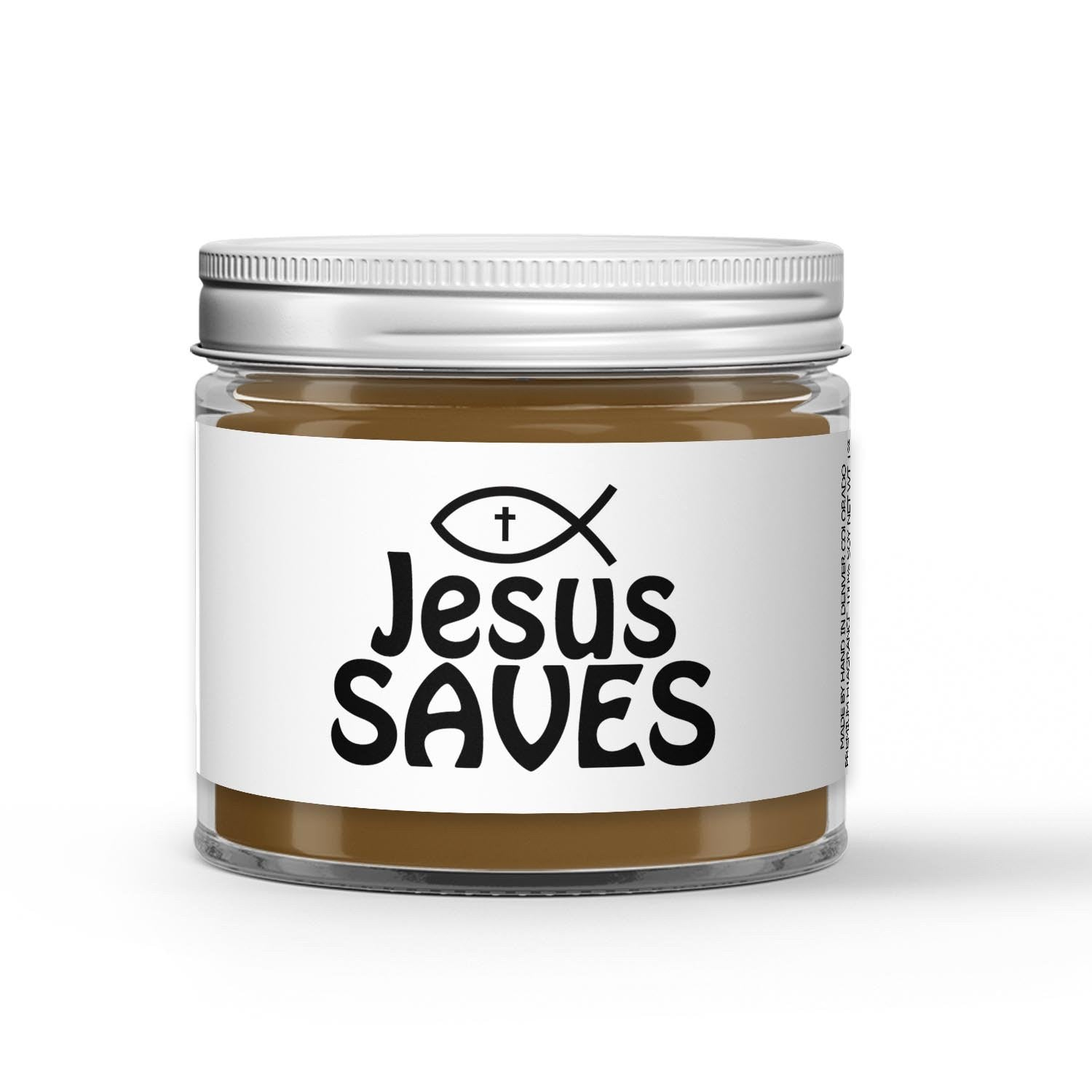 Jesus Saves Candle - Vanilla Chestnut - 1oz Adorable Size Candle® - Dio Candle Company