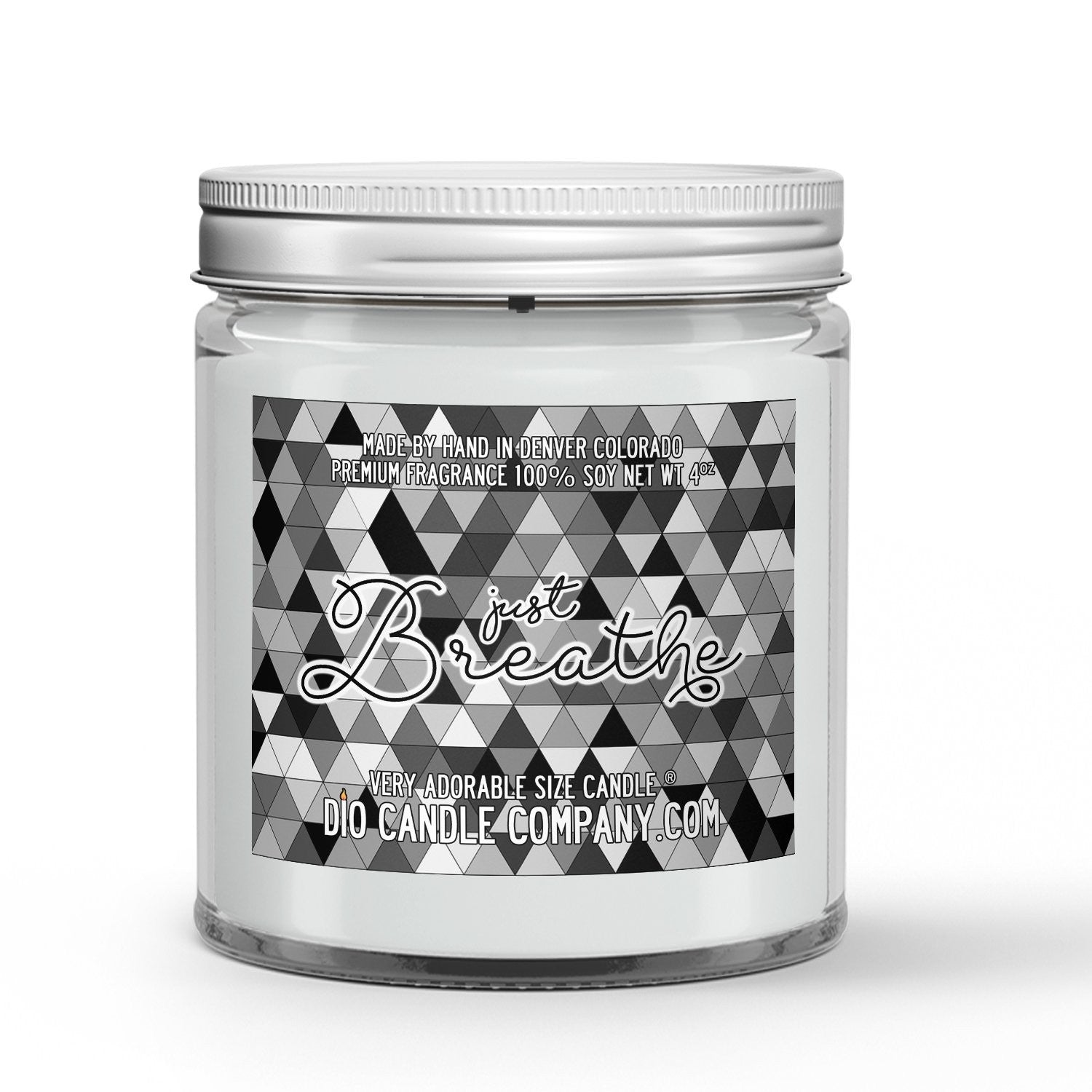 Just Breathe Candle - White Tea - Eucalyptus - 4oz Very Adorable Size Candle® - Dio Candle Company