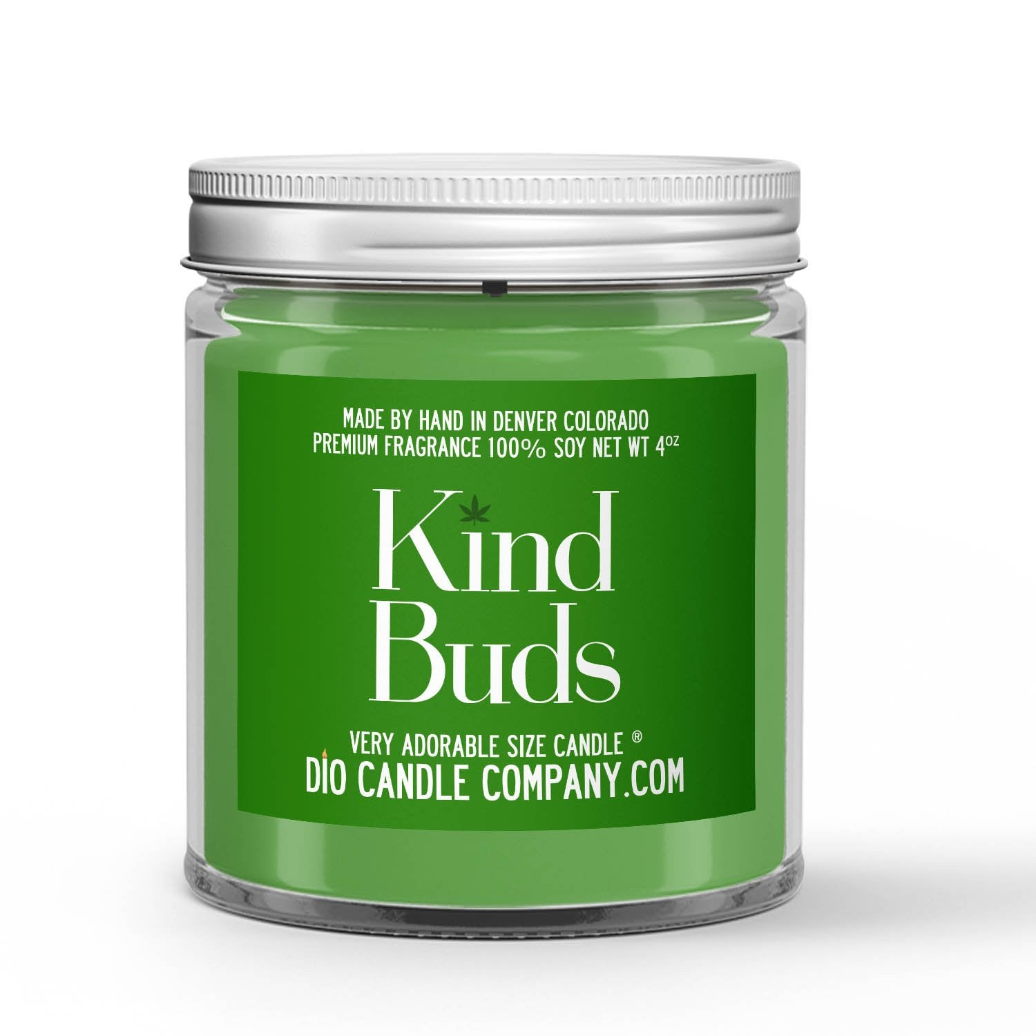Kind Buds Candle Cannabis Flower Scented - Dio Candle Company