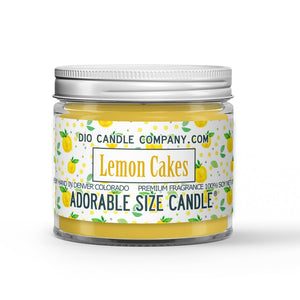 Lemon Cakes Candle - Lemon Rind - Cake - 1oz Adorable Size Candle® - Dio Candle Company