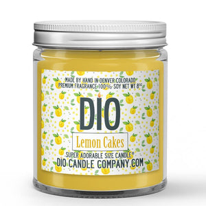 Lemon Cakes Candle - Lemon Rind - Cake - 8oz Super Adorable Size Candle® - Dio Candle Company