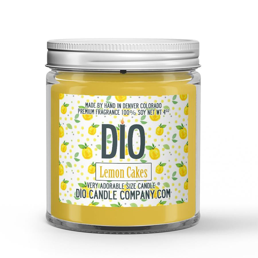 Lemon Cakes Candle Lemon Rind - Cake Scented - Dio Candle Company