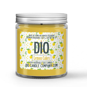 Lemon Cakes Candle - Lemon Rind - Cake - 4oz Very Adorable Size Candle® - Dio Candle Company