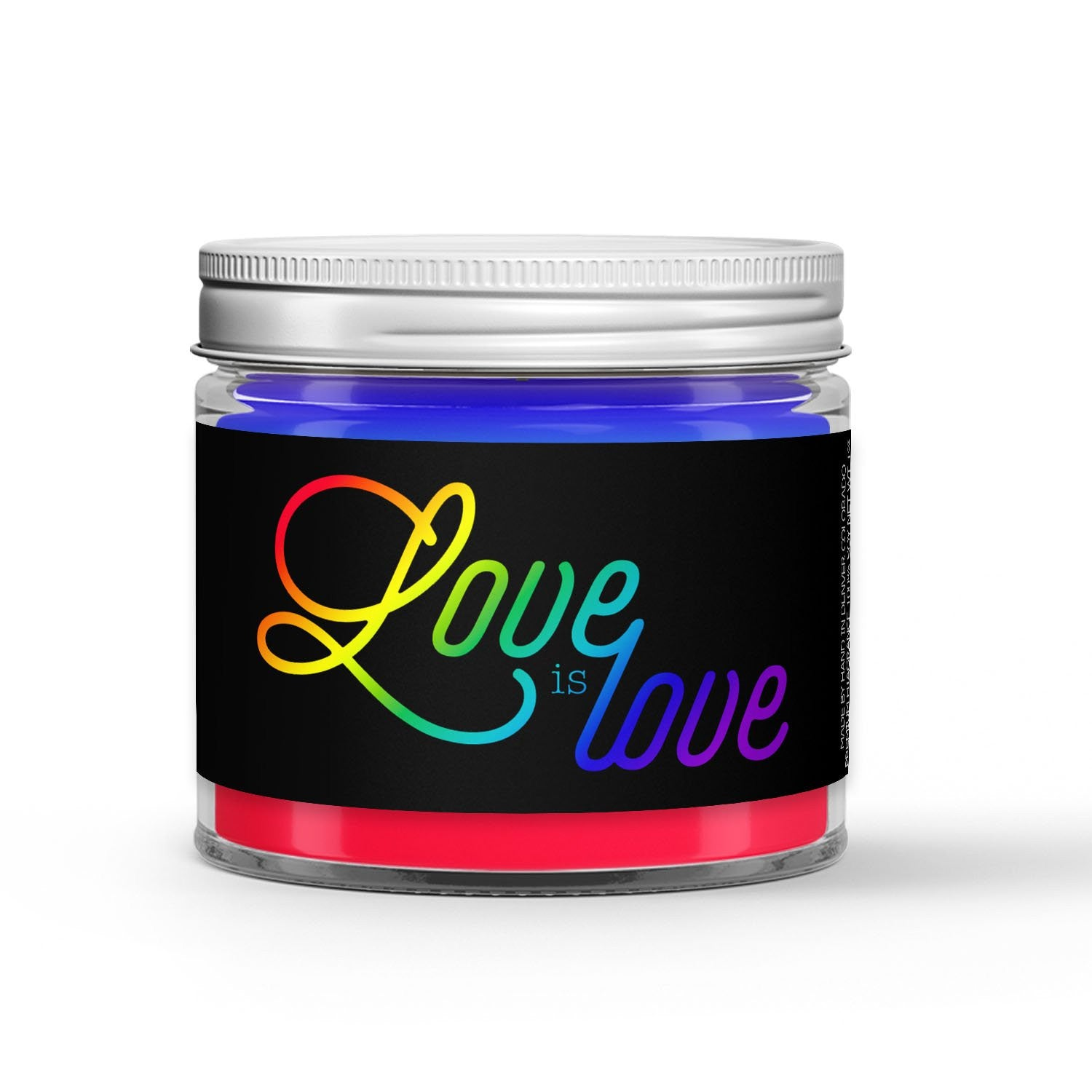 Love is Love Candle - Powdered Sugar - Sweet Cereal - 1oz Adorable Size Candle® - Dio Candle Company