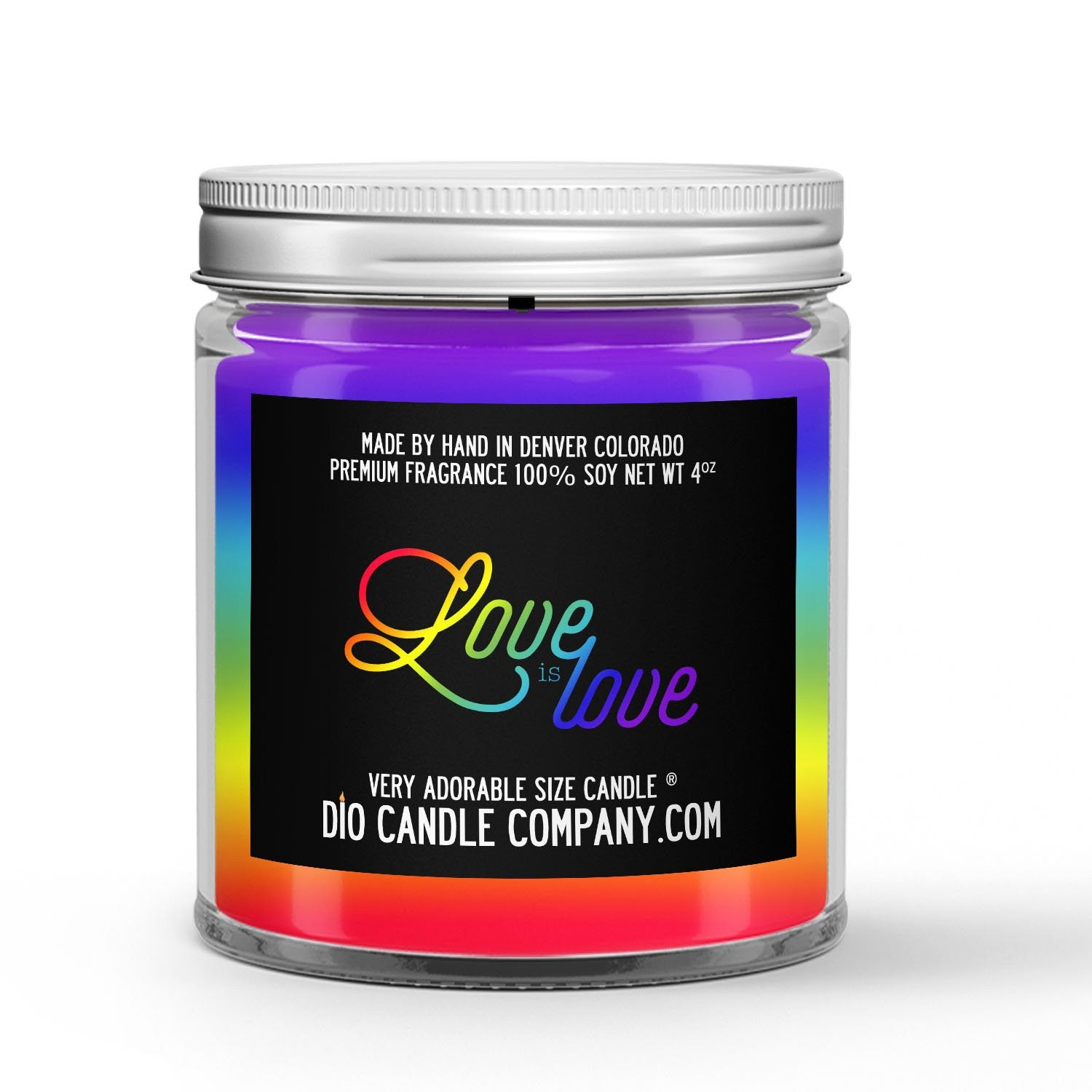 Love is Love Candle - Powdered Sugar - Sweet Cereal - 4oz Very Adorable Size Candle® - Dio Candle Company
