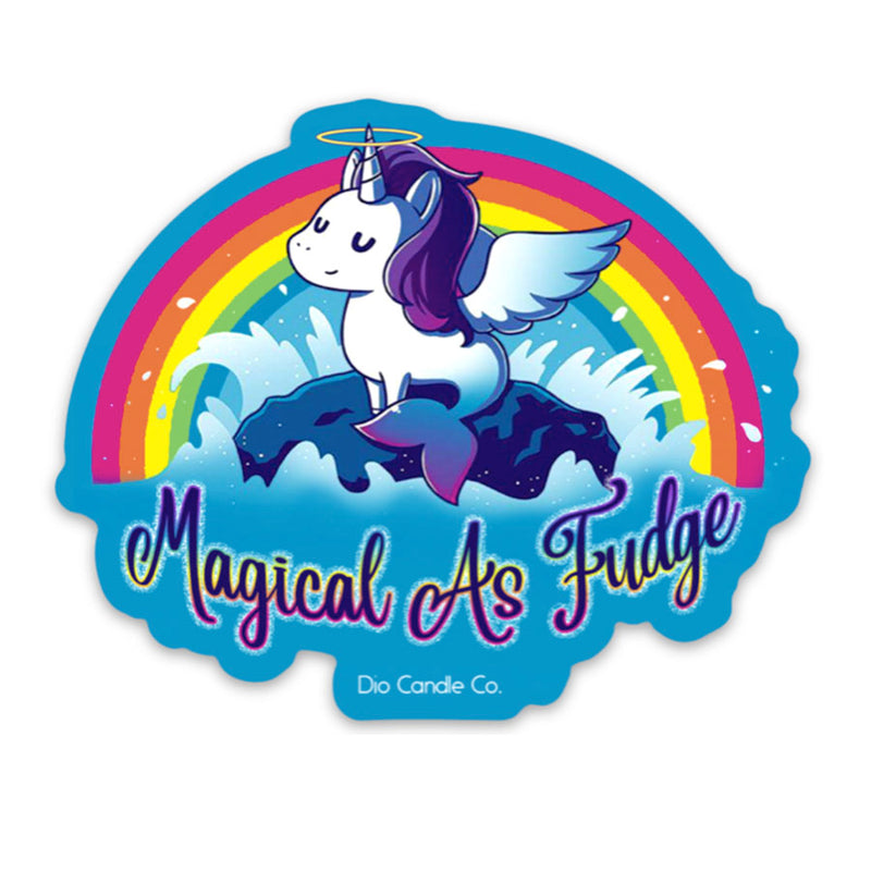 Magical As Fudge Window Cling Not Scented - Dio Candle Company