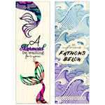 Double Sided Mermaid Aspen Wood Bookmark Double Sided Printed Adorable Bookmarks Scented - Dio Candle Company